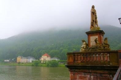 Alemania, Baden-Wurtemberg, Heidelberg, bosques Odín, río Neckar
