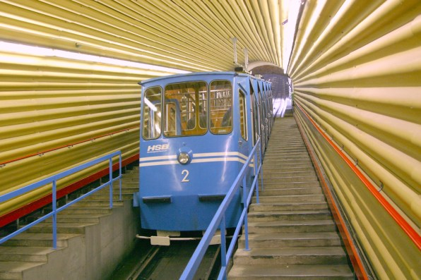 Alemania, Baden-Wurtemberg, Heidelberg, funicular al palacio, trasporte