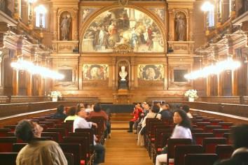 Alemania, Baden-Wurtemberg, Heidelberg, Universidad de Heidelberg, sala de fiestas, El aula (salón de la asamblea)