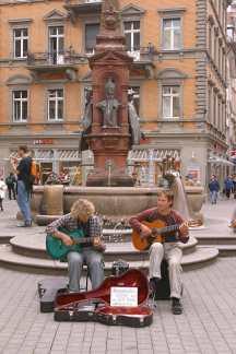 Alemania, Lago de Constanza, Constanza, músicos, retrato