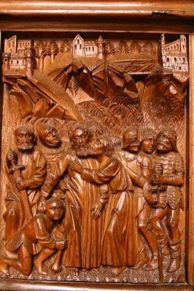 Alemania, Lago de Constanza, Constanza, catedral, Portal de Simon Hadler, bajo relieve