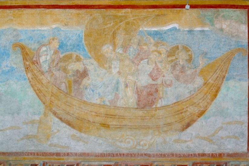 Alemania, Lago de Constanza, Isla Reichenacu, iglesia san Georg, frescos