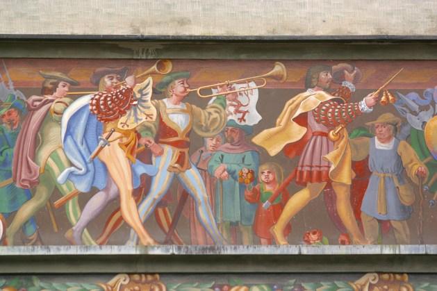 Alemania, Lago de Constanza, Lindau, Altes Rathaus, mural
