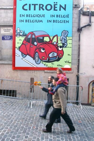 Bélgica, Bruselas, Pintura mural