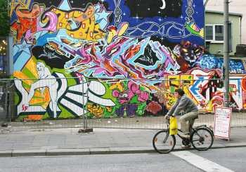 Alemania, Hamburgo, Barrio Sant Pauli, Pintura Mural