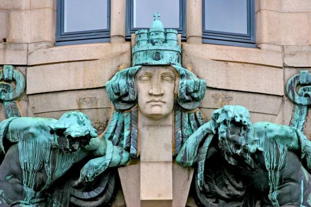 Alemania, Hamburgo, calle Admiralität, portal