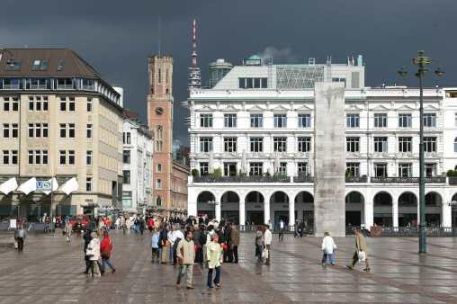 Alemania, Hamburgo plaza del Ayuntamiento