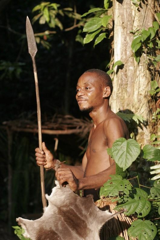 Camerún, Kribi, rey Pigmeo Kukuma, selva Húmeda,retrato