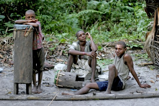 Camerún, Kribi, asentamiento Pigmeo,retrato