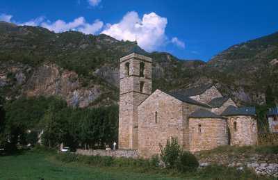 Catalunya, Alta Ribagorça, Vall de Boì, Barruera, Iglesia Románica Sant Fliu