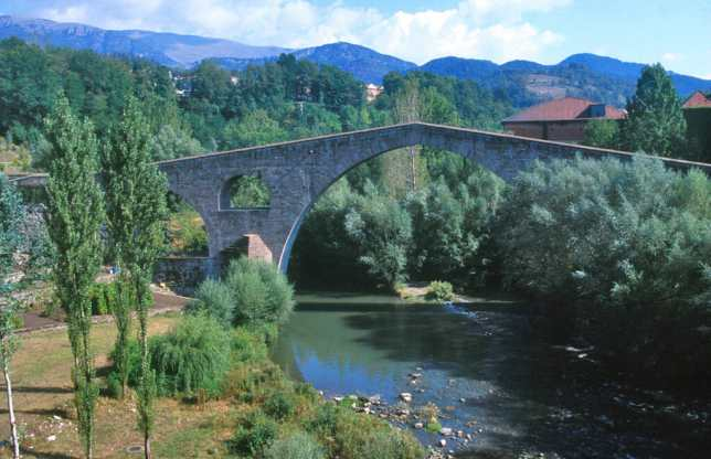 Catalunya, Gironès, El Ripollès, Sant Joan de les Abadesses, Río Ter