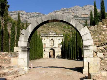 Catalunya, Priorat, Cartuja Escala Dei, puerta