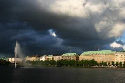 Alemania, Hamburgo, Lago BinnenalsterAlemania, Hamburgo Lago Aussenalster