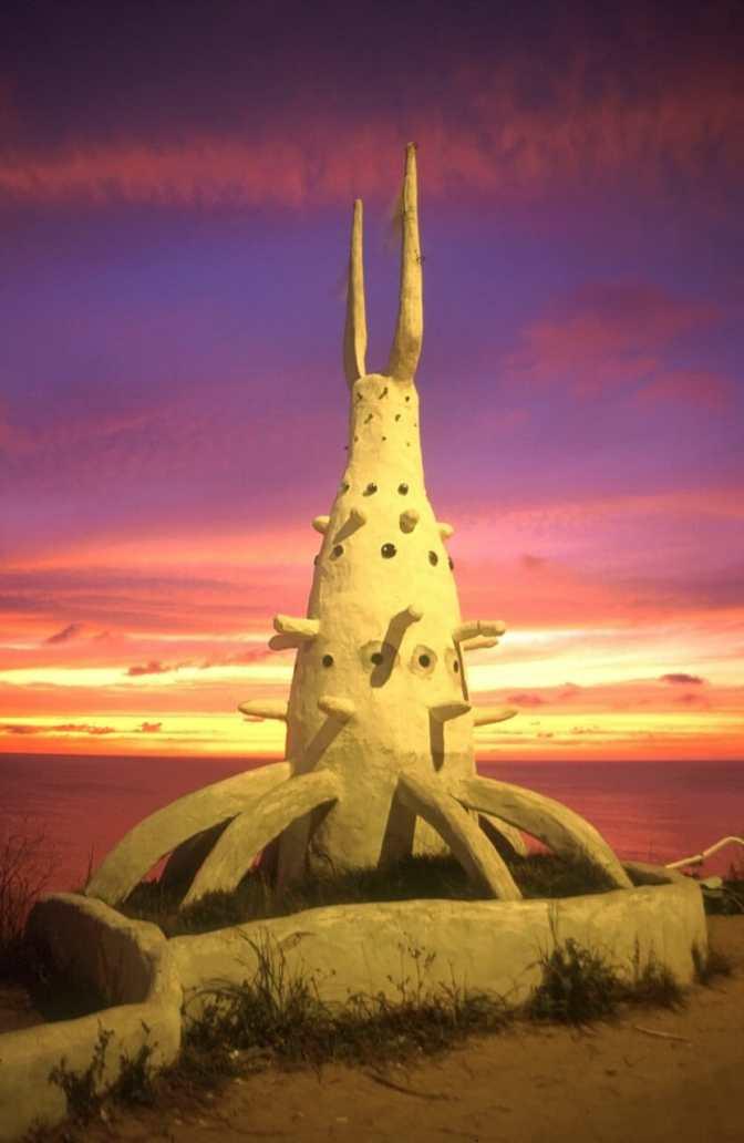 Uruguay, Maldonado, Punta Ballena, Casa Pueblo, noche, escultura