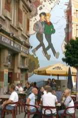 Bruselas, Pintura Mural, Ruta del Comic