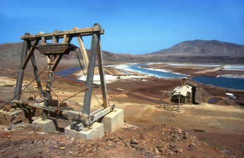 Cabo Verde, Isla de Sal, Pedra de lume, Salinas