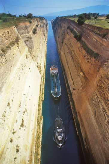 Grecia, Peloponeso, canal de Corinto