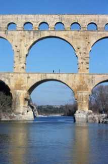 Francia, Languedoc Rosellon, Remoulins, Rio Gardon, Puente Romano del Gard,arqueologia