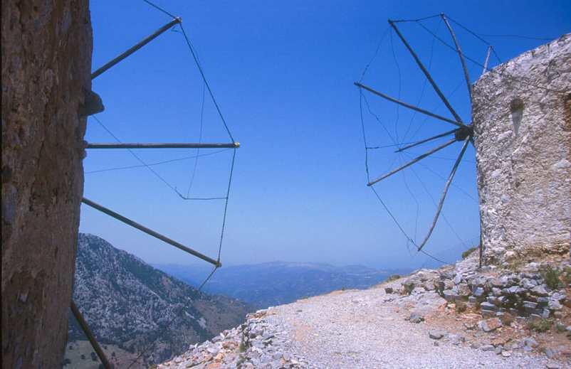 Creta, Meseta Lasthi, Molinos