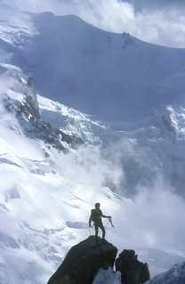 Francia, Alta Saboya, Chamonix, Mont Blanc, Macizo del Mont Blanc, Aiguille du Mid