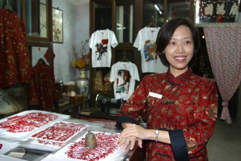 Singapur, Chinatown, visitante del Centro del Patrimonio de Chinatown