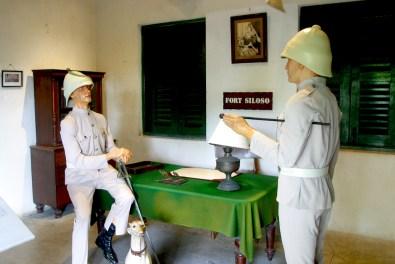 Singapur, Isla Santosa, museo fuerte Siloso,