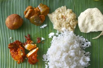 Singapur, La Pequeña India, The Banana Leaf Apolo, comida India sobre hoja de plátano