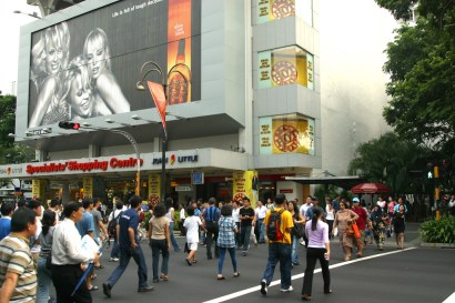 Singapur, Boat Quay, Orchard Road, centros comerciales