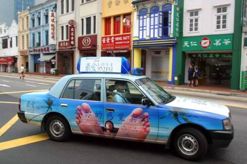 Singapur Chinatown Taxi