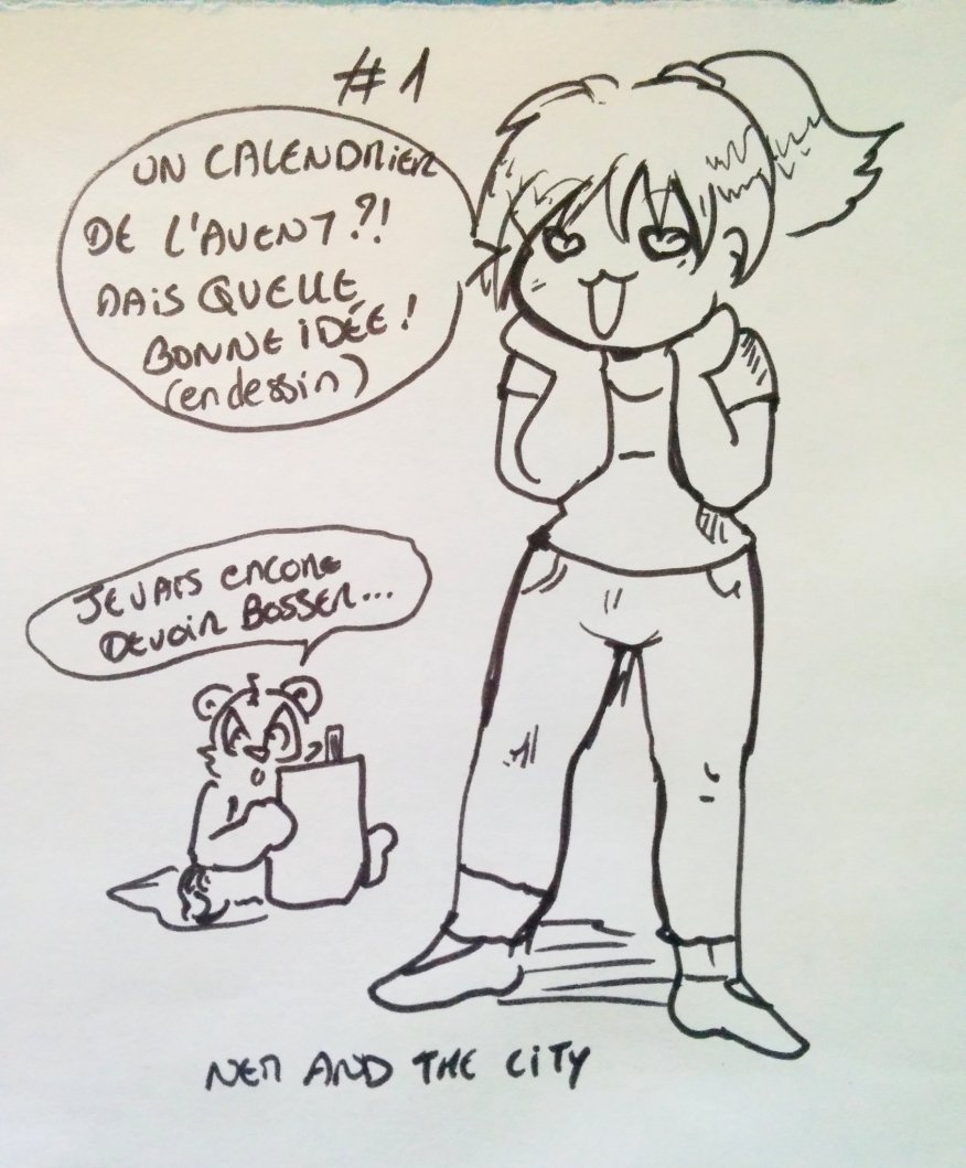 Calendrier de l'avent dessiné, jour 1 - nem and the city