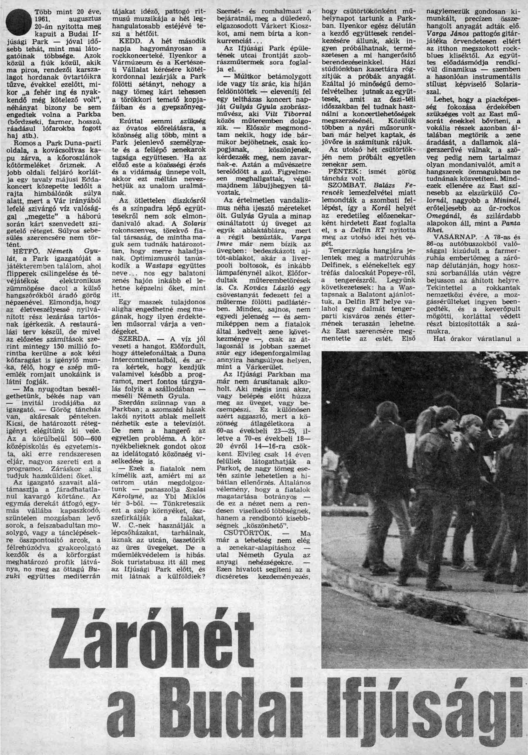 MagyarIfjusag 1981.11.13 - 46. szam - Szőnyei Tamás cikke - 1. oldal