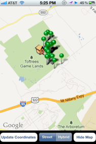 View your sightings on a map