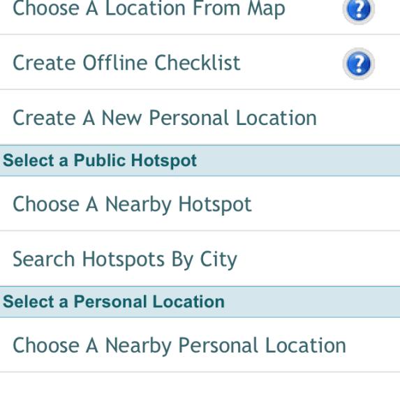 checklist location options