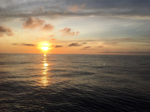 The sun sinks down