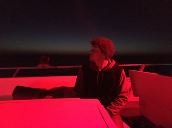 Night on the top deck
