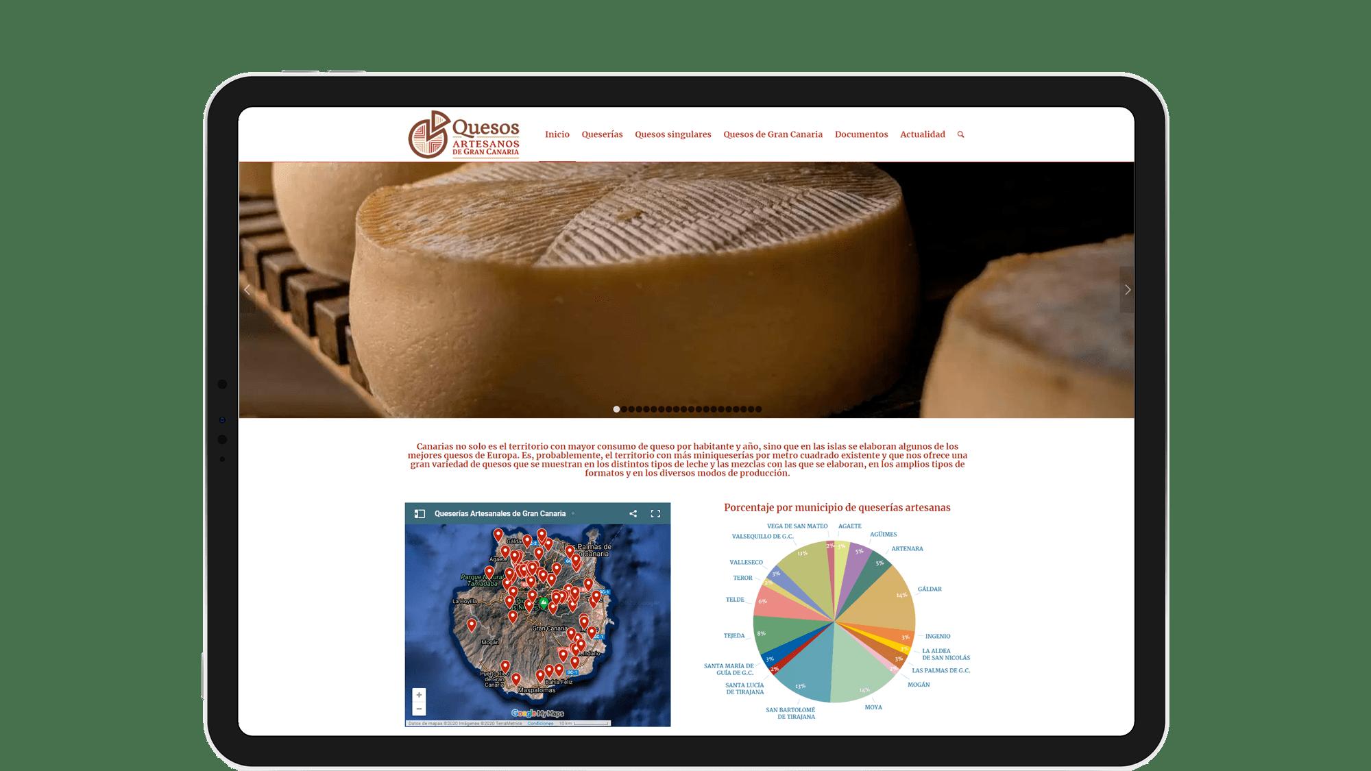 Página web de Quesos Artesanos de Gran Canaria