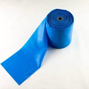 Blå træningselastik med kraftig modstand  Pris pr meter / Rulle