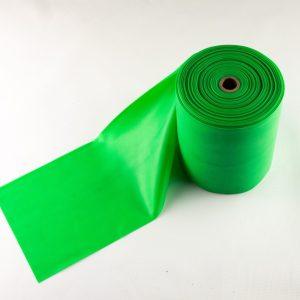 Grøn træningselastik med middel modstand Pris pr meter / Rulle