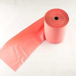 Pink træningselastik med lav modstand Pris pr meter / Rulle