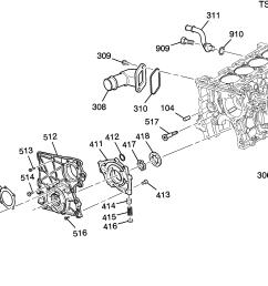 engine asm 2 8l l4 part 3 front cover  [ 2982 x 1990 Pixel ]