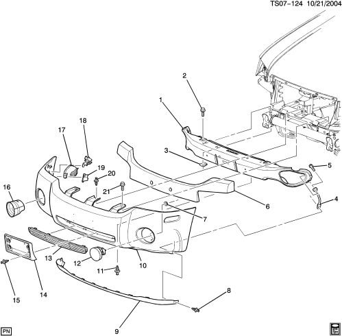 small resolution of 2004 trailblazer front bumper diagram