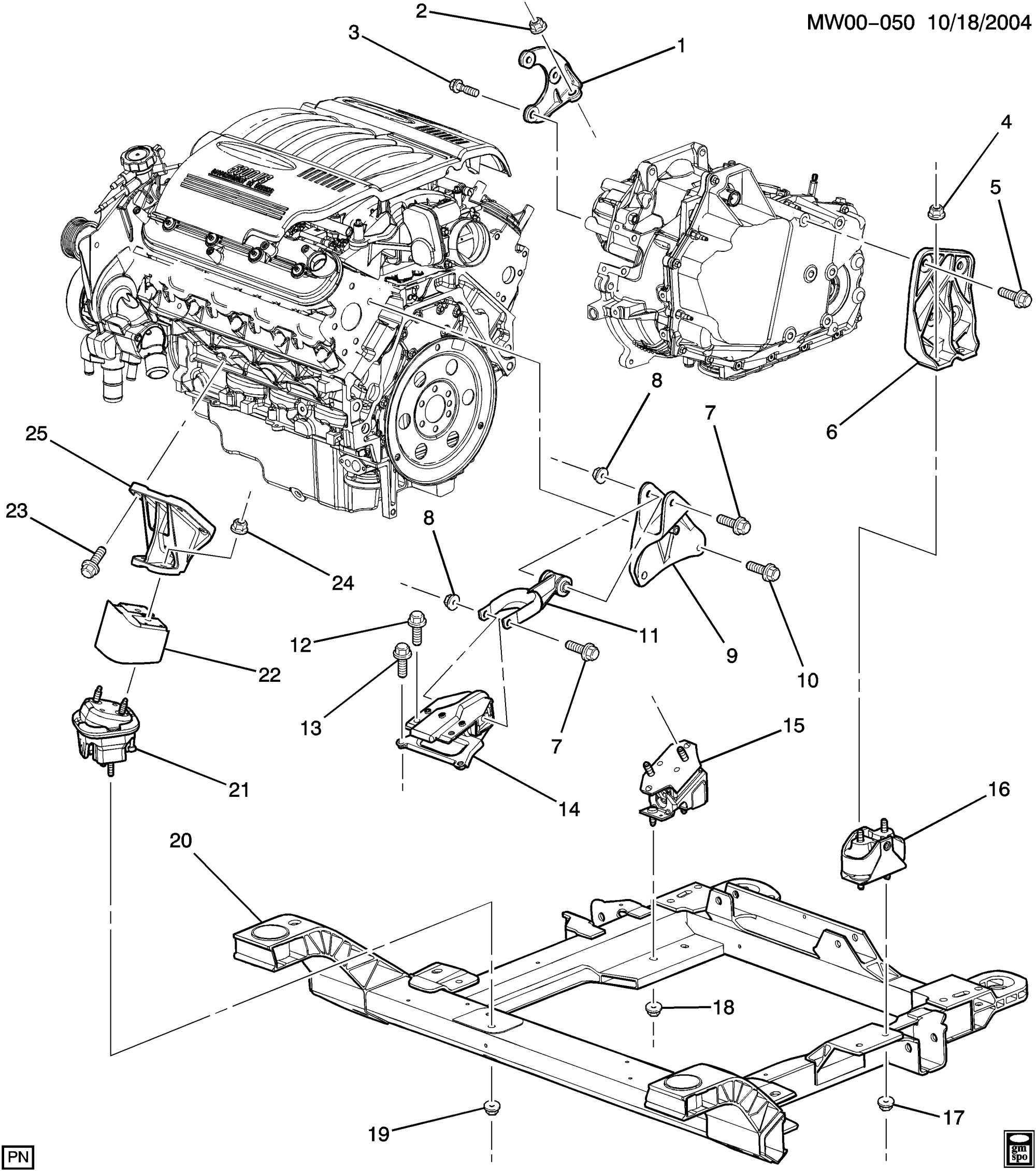 hight resolution of buick lacrosse allure wn19 engine transmission mounting ls4 5 3 ls4 electrical diagram ls4 engine diagram