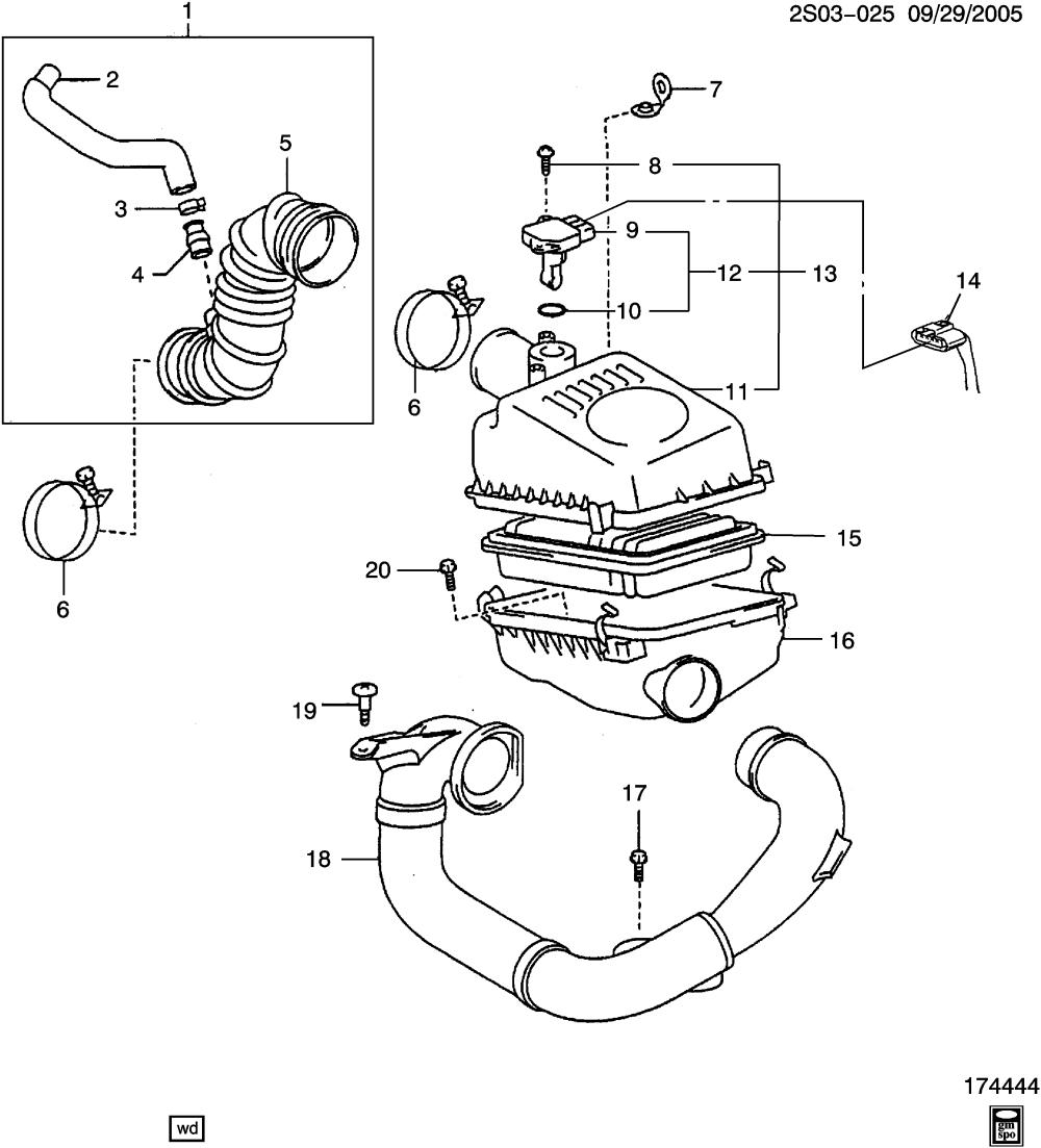 medium resolution of pontiac vibe engine diagram intake wiring diagram databasepontiac vibe sm26 air intake system 1 8