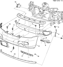 trailblazer front bumper diagram [ 2987 x 2740 Pixel ]
