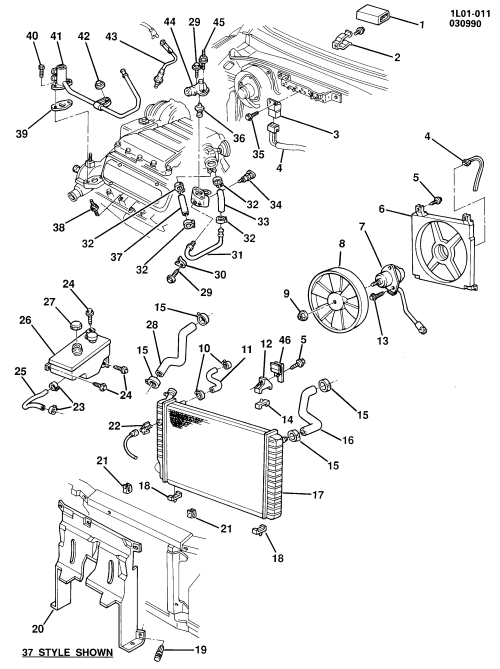 small resolution of chevy 2 5 engine cooling diagram