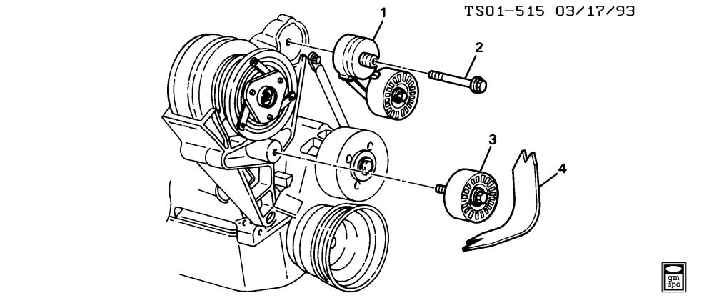 medium resolution of tensioner drive belt idler pulley