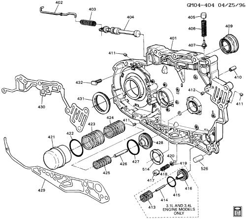 small resolution of pontiac bonneville h automatic transmission m13 part 6 hm 4t60 e gm 4t60e transmission diagram 4t60 transmission diagram