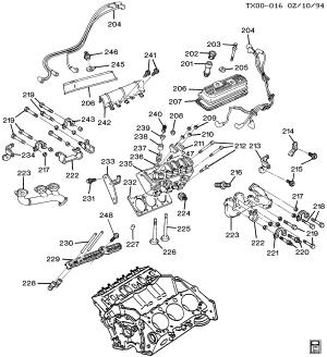 BRAVADA 4WD  Engine asm43l v6 > Chevrolet EPC Online