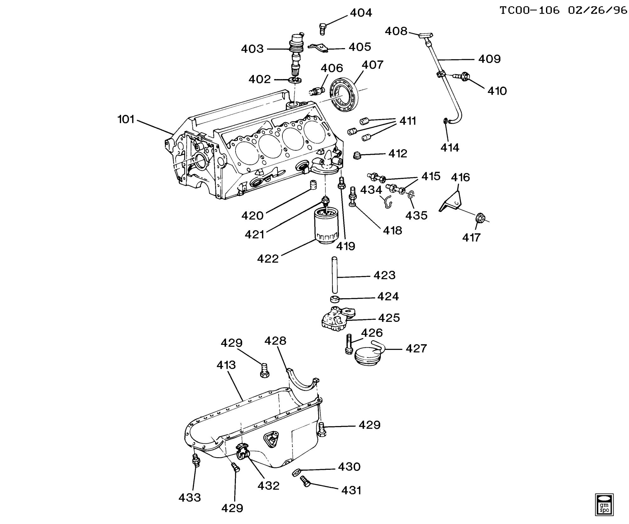 hight resolution of blazer 4wd engine asm 6 5l v8 diesel part 4 oil pump pan u0026 relatedchevy 6 5 diesel engine parts diagram 11