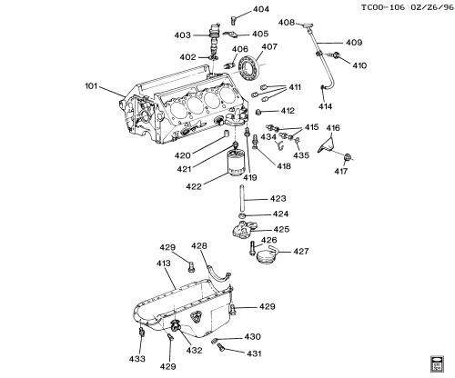 small resolution of blazer 4wd engine asm 6 5l v8 diesel part 4 oil pump pan u0026 relatedchevy 6 5 diesel engine parts diagram 11